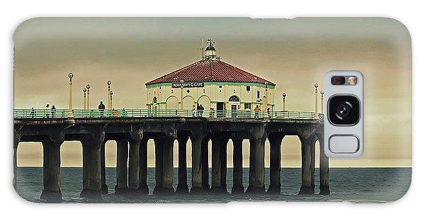 Vintage Manhattan Beach Pier Galaxy Case