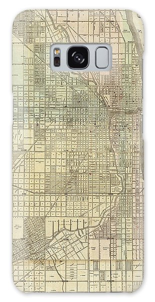 Vintage Map Of Chicago - 1857 Galaxy Case