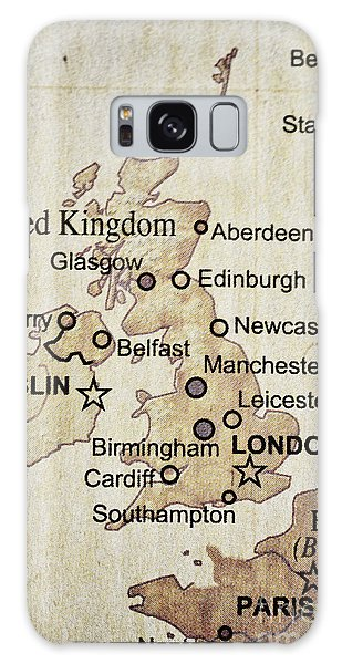 Vintage Map Of England Galaxy Case