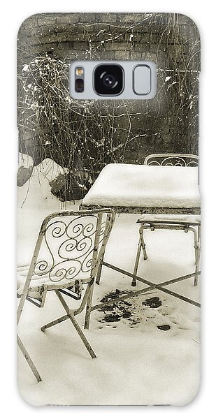 Vintage Metal Chairs Covered With Snow Galaxy Case by Vlad Baciu
