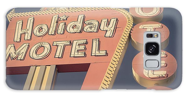 Place Galaxy Case - Vintage Motel Sign Holiday Motel Square by Edward Fielding