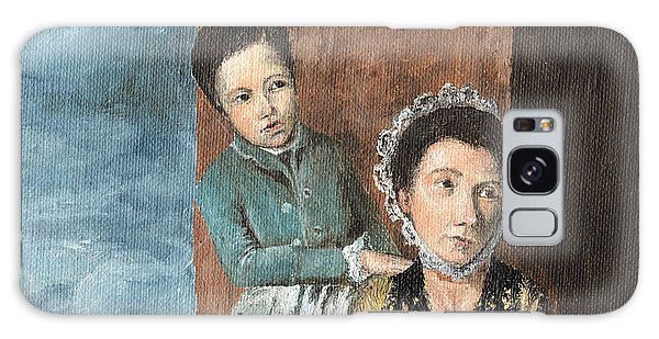 Vintage Mother And Son Galaxy Case by Mary Ellen Anderson