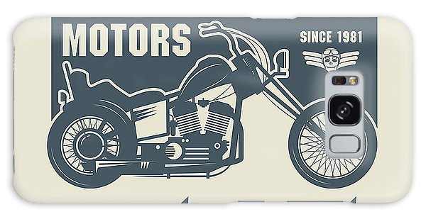 Old Road Galaxy Case - Vintage Motorcycle Label Or Poster by Astudio