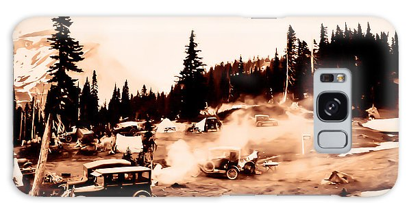 Vintage Mount Rainier Cars And Camp Grounds Early 1900 Era... Galaxy Case