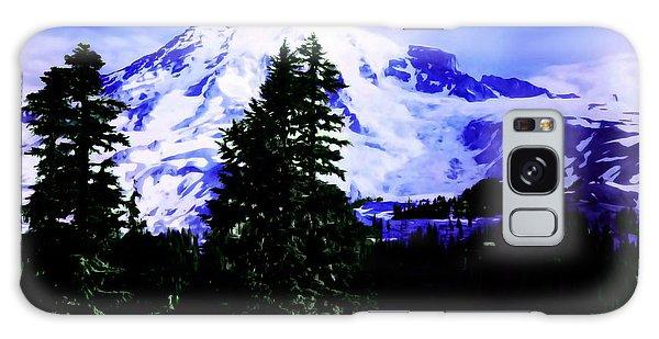 Vintage Mount Rainier From Pinnacle Peak Early 1900 Era... Galaxy Case by Eddie Eastwood
