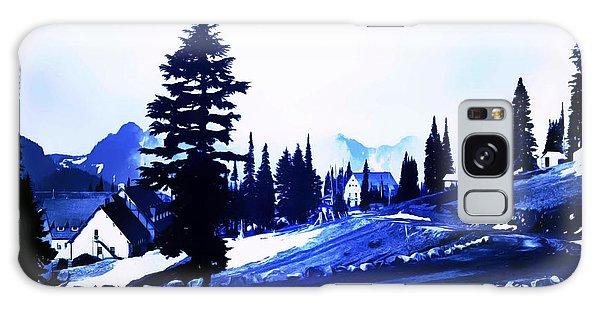 Vintage Mount Rainier Lodge Early 1900 Era... Galaxy Case by Eddie Eastwood