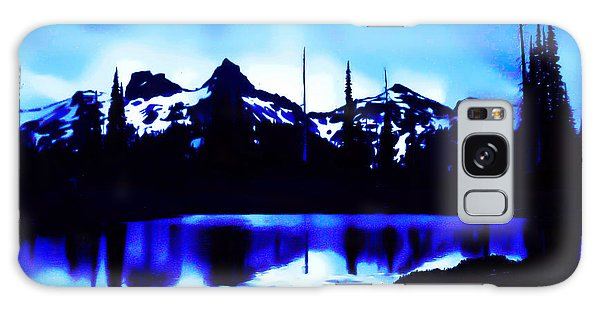 Vintage Mount Rainier With Longmire Springs In The Foreground Early 1900 Era... Galaxy Case by Eddie Eastwood
