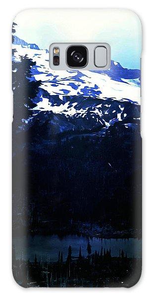 Vintage Mount Rainier With Reflexion Lake Early 1900 Era... Galaxy Case by Eddie Eastwood