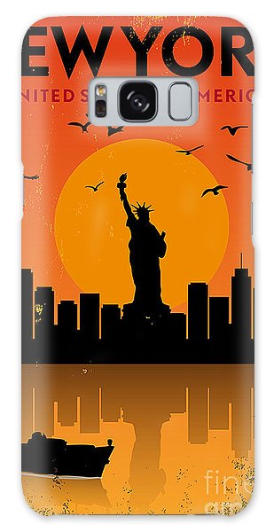 Reflections Galaxy Case - Vintage New York Poster by Avny
