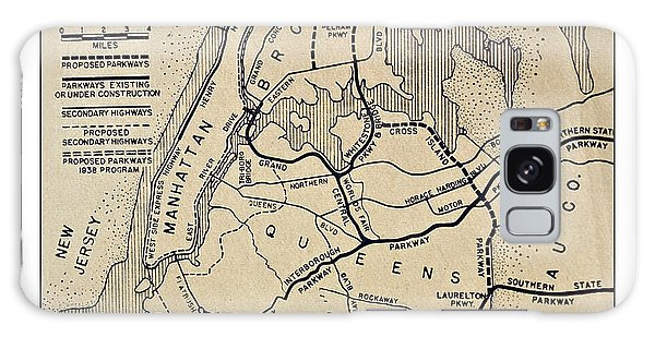 Vintage Newspaper Map Galaxy Case