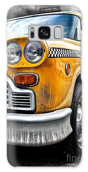 New York City Taxi Galaxy Case - Vintage Nyc Taxi by John Farnan