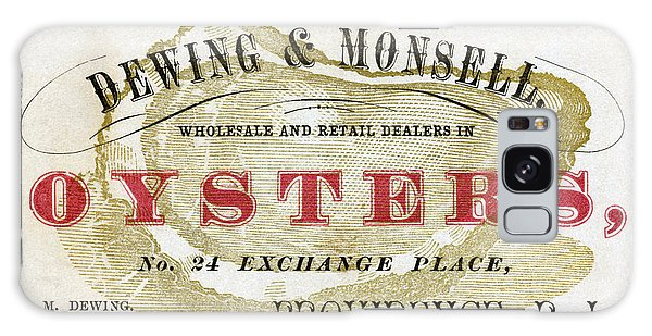 Vintage Oyster Dealers Trade Card Galaxy Case