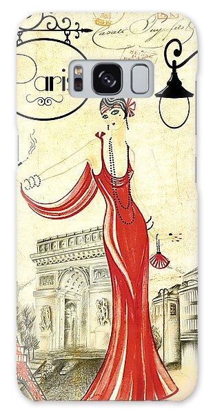 Vintage Paris Woman Galaxy Case
