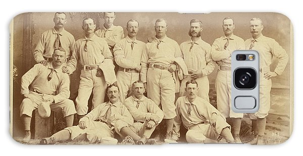 Vintage Photo Of Metropolitan Baseball Nine Team In 1882 Galaxy Case