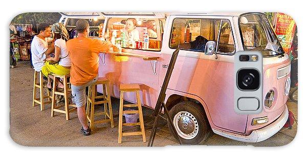 Vintage Pink Volkswagen Bus Galaxy Case