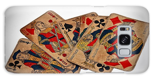 Vintage Playing Cards Art Prints Galaxy Case