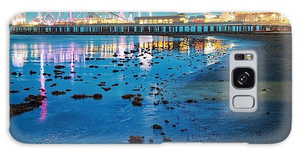 Vintage Pleasure Pier - Gulf Coast Galveston Texas Galaxy Case