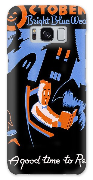 House Galaxy Case - Vintage Poster - Reading - October by Benjamin Yeager