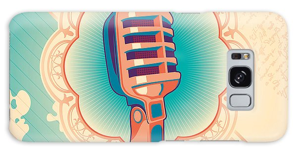 Record Galaxy Case - Vintage Poster With Microphone. Vector by Radoman Durkovic