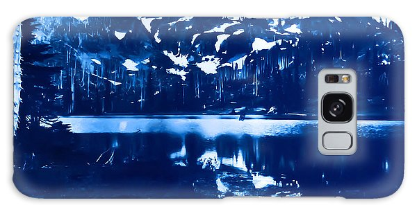 Vintage Reflection Lake  With Ripples Early 1900 Era... Galaxy Case by Eddie Eastwood