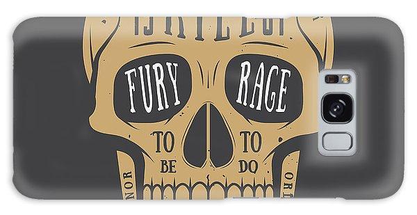 Bone Galaxy Case - Vintage Skull Label, Emblem And Logo by Akimd
