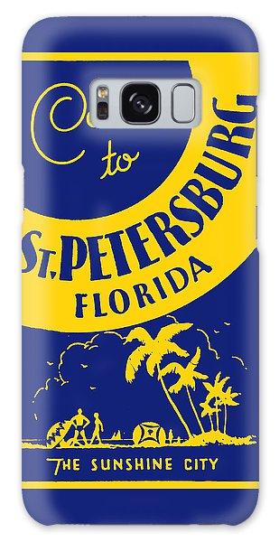 Vintage St. Petersburg Florida Poster Galaxy Case
