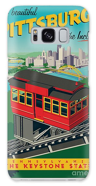 Vintage Style Pittsburgh Incline Travel Poster Galaxy Case by Jim Zahniser