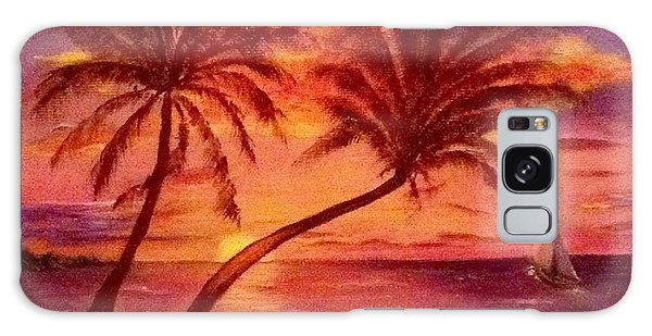 Vintage Sunset Sail  Galaxy Case
