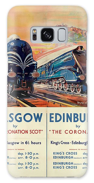 Vintage Train Travel - Glasgow And Edinburgh Galaxy Case