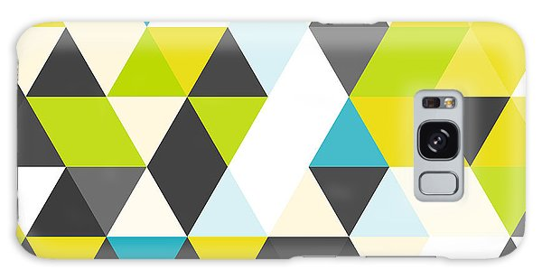 Bright Galaxy Case - Vintage Triangle Pattern.geometric by Veronika M