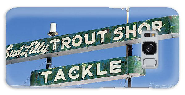 Vintage Trout Shop Sign West Yellowstone Galaxy Case