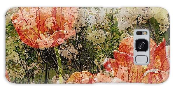 Vintage Tulips Galaxy Case by France Laliberte