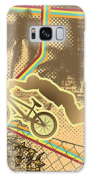 Old Road Galaxy Case - Vintage Urban Grunge Background Design by Shockydesign