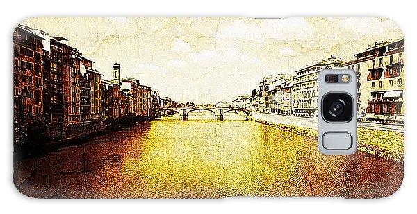 Vintage View Of River Arno Galaxy Case