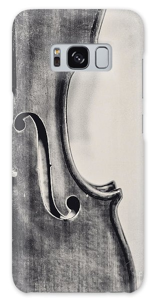 Violin Galaxy Case - Vintage Violin Portrait In Black And White by Emily Kay