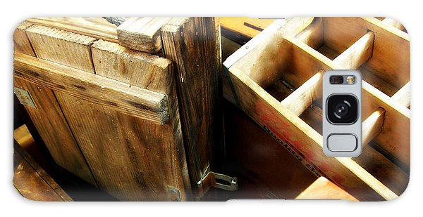Vintage Wooden Boxes Galaxy Case