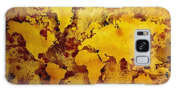 Vintage World Map Galaxy Case by Zaira Dzhaubaeva