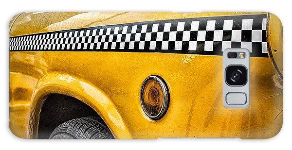 New York City Taxi Galaxy Case - Vintage Yellow Cab by John Farnan