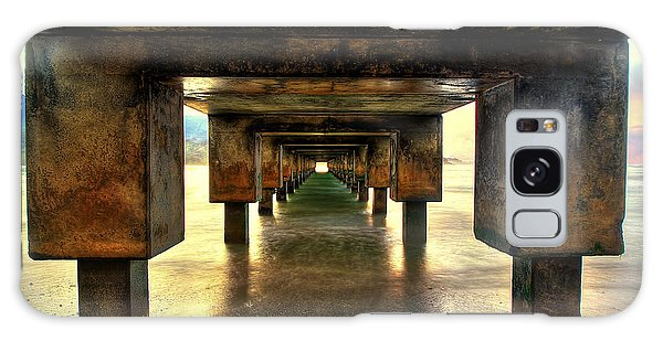 Vintaged Hanalei Pier  Galaxy Case