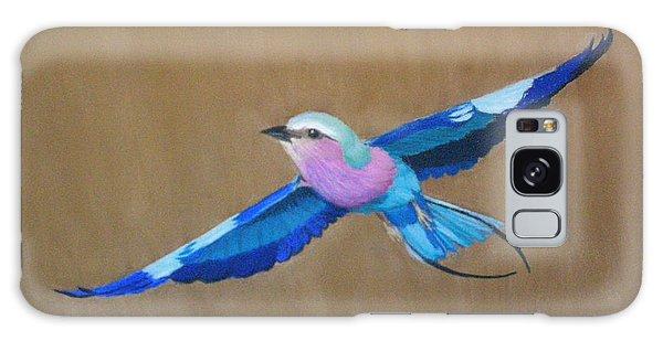 Violet-breasted Roller Bird II Galaxy Case