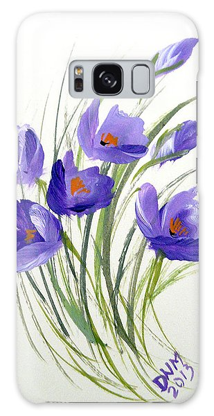 Violet Crocus Galaxy Case by Dorothy Maier