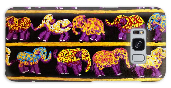 Violet Elephants Galaxy Case