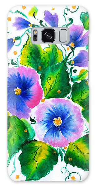 Violet Flowers Galaxy Case