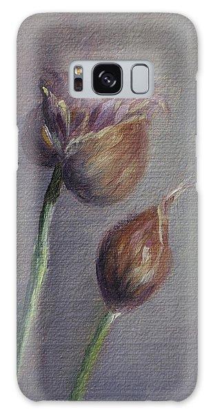 Violet Heads Galaxy Case by Debbie Lamey-MacDonald