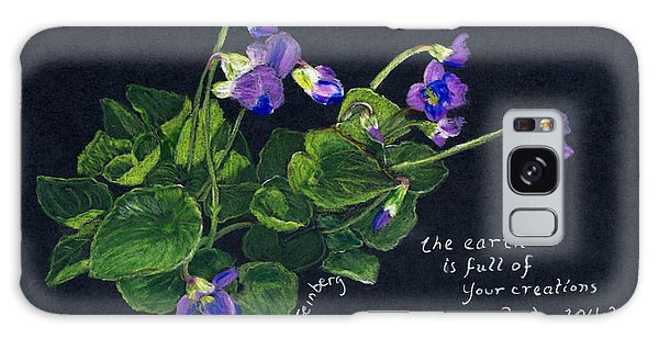 Violets And Psalm 104 Galaxy Case