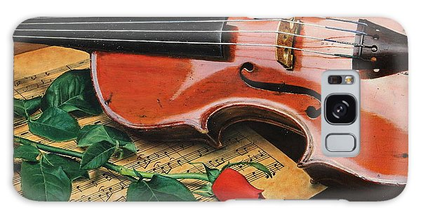 Violin And Rose Galaxy Case
