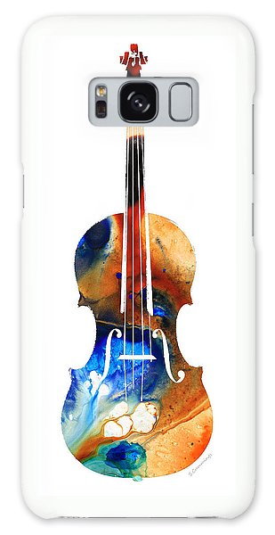 Music Galaxy Case - Violin Art By Sharon Cummings by Sharon Cummings