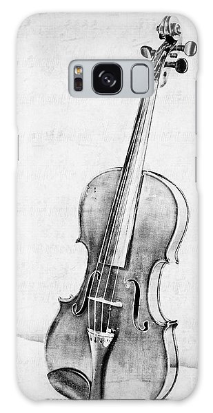 Violin In Black And White Galaxy Case
