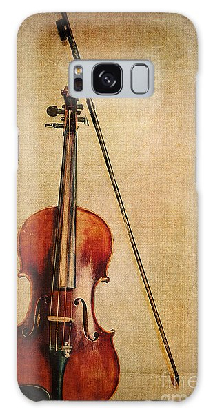 Violin Galaxy Case - Violin With Bow by Emily Kay
