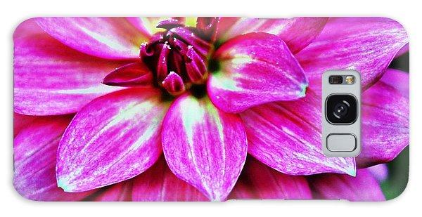 Virbrant Pink Dahlia Galaxy Case
